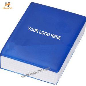 PU stress ball book printed with logo